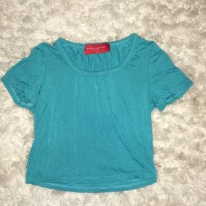 AKIRA Turquoise Crop Top Size Small